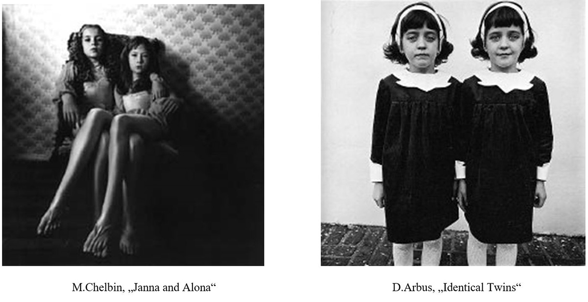 Michal Chelbin a Diane Arbus, Janna and Alona, Identical Twins